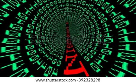 Login data tunnel - stock photo