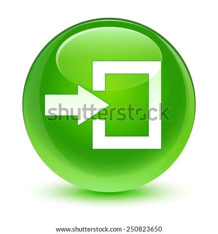 Login Buttons Icons Login Icon Glassy Green Button