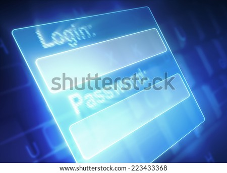 Login & Password - stock photo