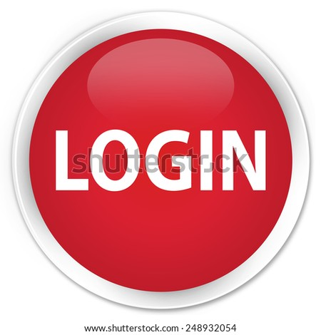 Login Buttons Login Red Glossy Round Button