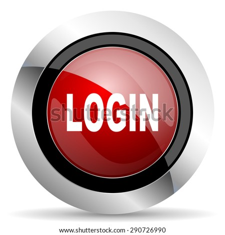 login red glossy web icon original modern design for web and mobile app on white background  - stock photo