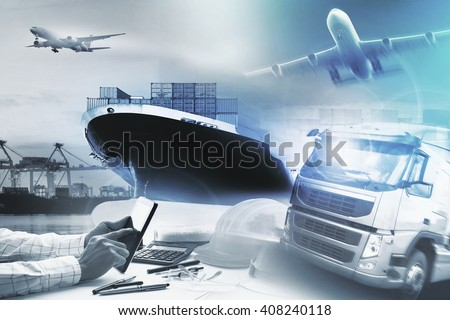 logistic and transportation business  - stock photo