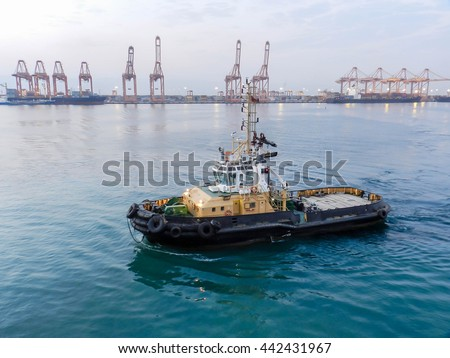 Logistic concept,Tugboat