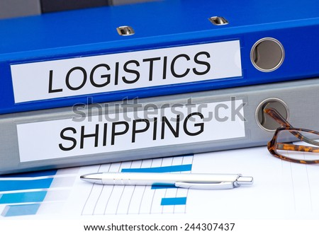 Logistics and Shipping - two binders on desk in the office