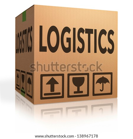 Logistics freight transportation cardboard box concept for international and global trade and package transport