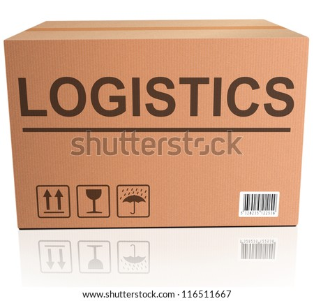 logistics international trade import and export cardboard box