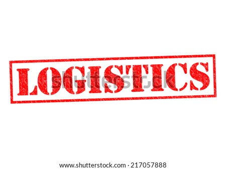 LOGISTICS red Rubber Stamp over a white background. - stock photo