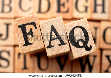 Logo for FAQ - stock photo