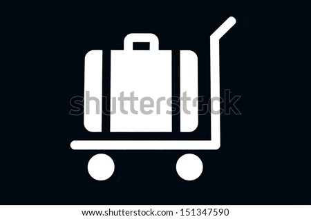 Logo placement of the bags in a car - stock photo