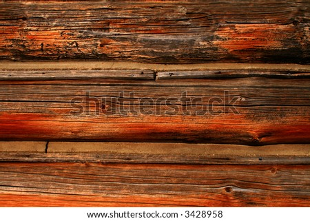 Logs from cabin used as background,rustic