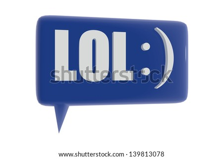 Lol and smiley symbol - stock photo