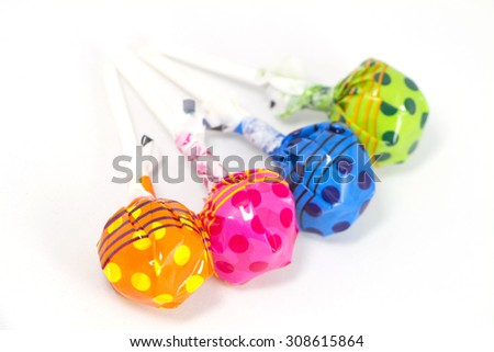 Lollipop Candy Colorful on white background