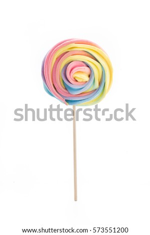 lollipop candy rainbow pastel isolated on white background