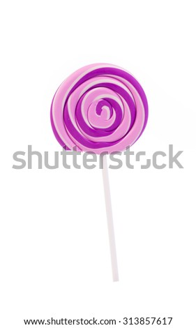 lollipop Isolated on white background.