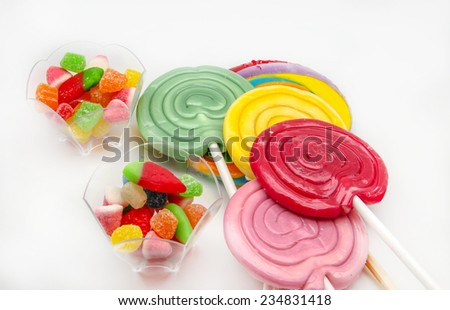 Lollipops and candy