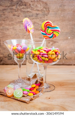 lollipops and sweets colorful