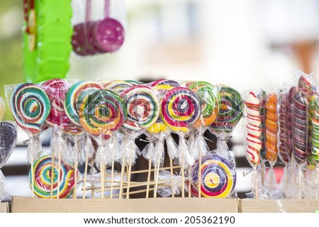 Lolly pops, cookies, cakes and other sweets