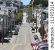 Lombard Street, San Francisco - stock photo