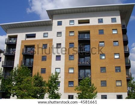 London apartment block - stock photo