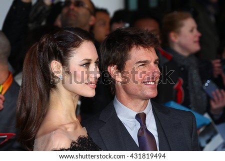 LONDON - APR 4, 2013: Olga Kurylenko and Tom Cruise attend The UK Premiere Of Oblivion at the BFI IMAX on Apr 4, 2013 in London