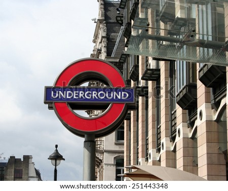 LONDON - APRIL 5,2008: London Underground station entrance on April 5, 2008 in London.
