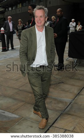 LONDON - AUG  25, 2015: Frank Skinner attends the press night of Hamlet at Barbican Centre on Aug 25, 2015 in London