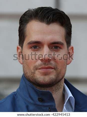 LONDON - AUG 7, 2015: Henry Cavill attends The Man from U.N.C.L.E. - UK film premiere at Somerset House on Aug 7, 2015  in London