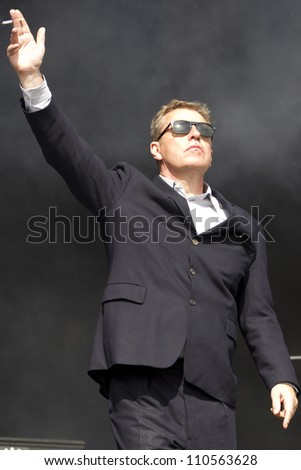 LONDON - AUG 19: Madness Performs at V Festival Chelmsford, AUG 19, 2012 in Chelmsford, UK - stock photo