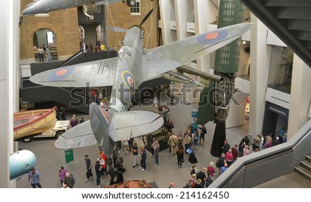 LONDON - AUG 30, 2014: The National War Museum was founded in 1917 by the UK government, the museum has recently undergone a £40m transformation.