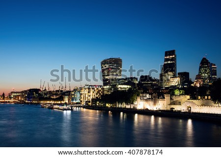 London banks - stock photo
