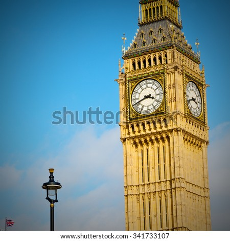 london big ben and historical old construction england   city