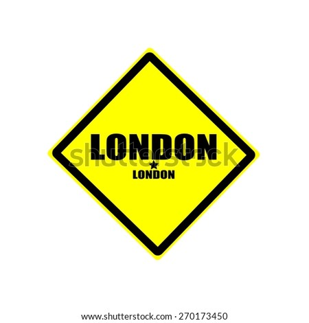 London black stamp text on yellow background - stock photo