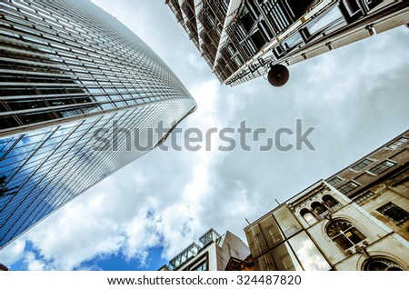 LONDON - business office, corporate building - stock photo