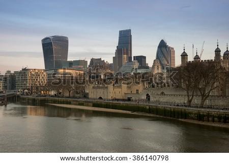 London city Skyline - stock photo