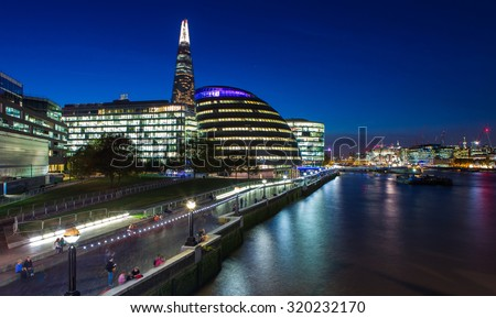 London Cityscape - stock photo