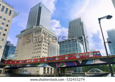 London, England - 22.August ,2016 - Canary Warf  - one of the two major business districts in London