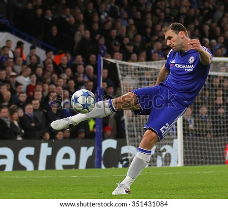 LONDON, ENGLAND - DECEMBER 09 2015:  during the Champions League Group G match between Chelsea FC and FC Porto at Stamford Bridge on December 9, 2015 in London, United Kingdom - stock photo