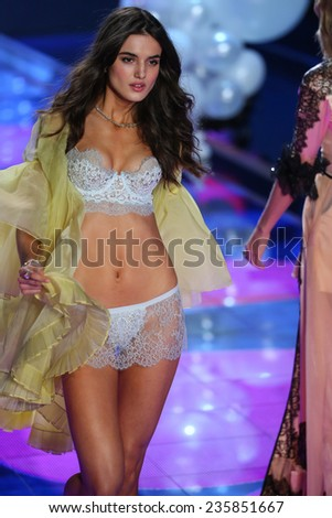 LONDON, ENGLAND - DECEMBER 02: Victoria's Secret model Blanca Padilla walks the runway during the 2014 Victoria's Secret Fashion Show on December 2, 2014 in London, England.