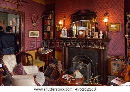 sherlock holmes living room jul 22 2016 stock photo 495261553 16918