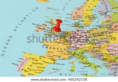 Stock images royalty free images vectors shutterstock london england july 28 2016 red push pin pointing at london gumiabroncs Gallery