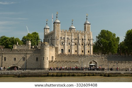 LONDON, ENGLAND - JULY 12: Tower of London on July 12, 2015 in London.