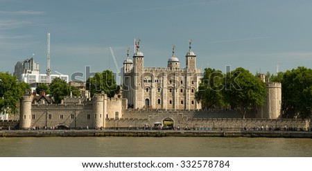 LONDON, ENGLAND - JULY 12: Tower on July 12, 2015 in London.