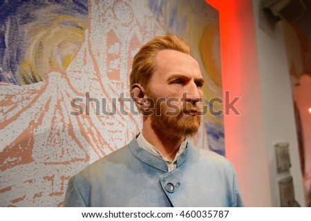 LONDON, ENGLAND - JULY 22, 2016: Van Gogh, Madame Tussauds wax museum. It is a major tourist attraction in London