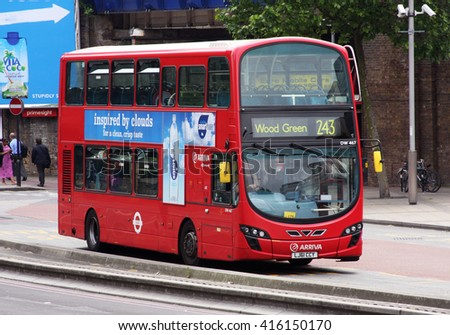 London England June 12 2015 Red Stock Photo Royalty Free 416150170