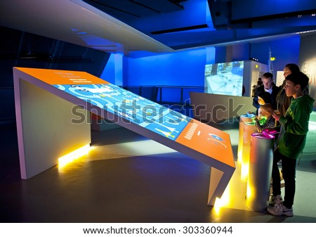 LONDON, ENGLAND - MAY 31: Science Museum in London on May 31, 2015 in London - stock photo