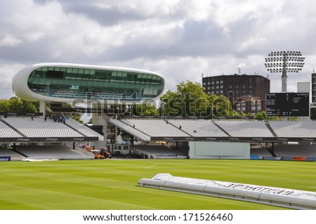 "LONDON, ENGLAND - SEPTEMBER 5: Lord's Cricket Ground in London, England, as seen on September 5, 2011. It is referred to as the ""home of cricket"" and is home to the world's oldest sporting museum. - stock photo"