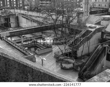 LONDON, ENGLAND, UK - MARCH 04, 2009: The Alexandra Road estate designed in 1968 by Neave Brown applies the terraced house model to high-density public housing