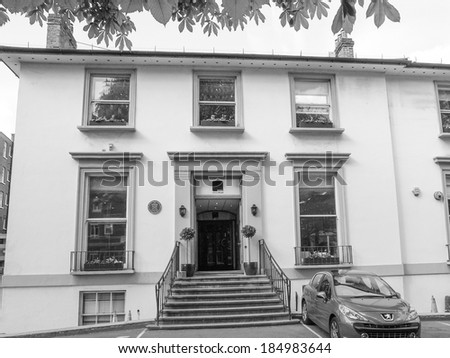 LONDON, ENGLAND, UK - MAY 10, 2010: EMI Abbey Road studios made famous by the Beatles who recorded an album with the same name in 1969 - stock photo