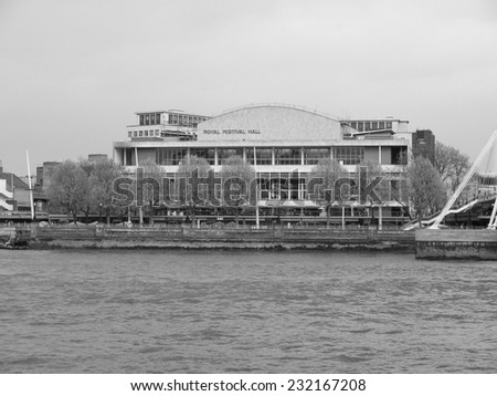 LONDON, ENGLAND, UK - MAY 05, 2010: The Royal Festival Hall built as part of the Festival of Britain national celebrations in 1951 is still in use as a major music and entertainment venue - stock photo