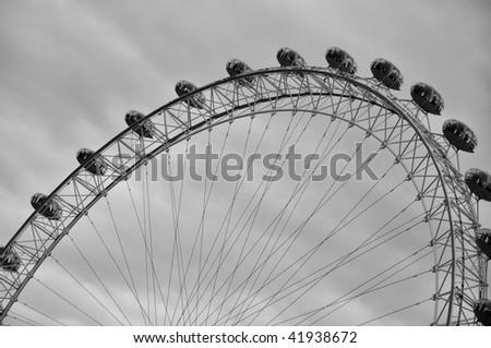 London Eye in London - stock photo